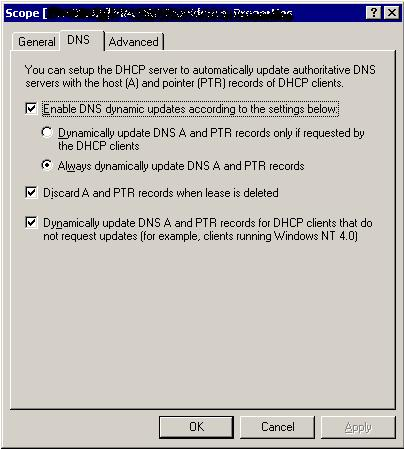 DHCP, Applying DNS settings